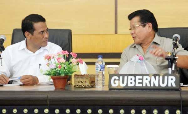 Menteri Pertanian Amran Sulaiman dan Gubernur Sulbar Anwar Adnan Saleh