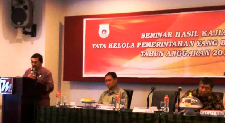 Seminar hasil kajian tata kelola pemerintahan yang baik dan bersih