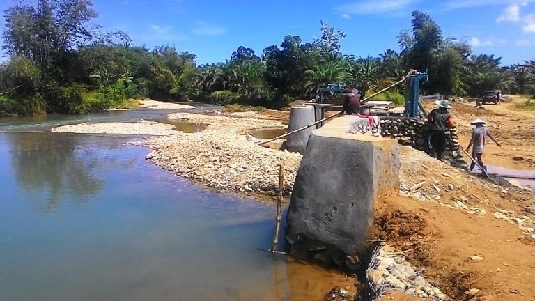 Kondisi Proyek Bendungan Sungai Salubarana Kabupaten Mamuju Tengah