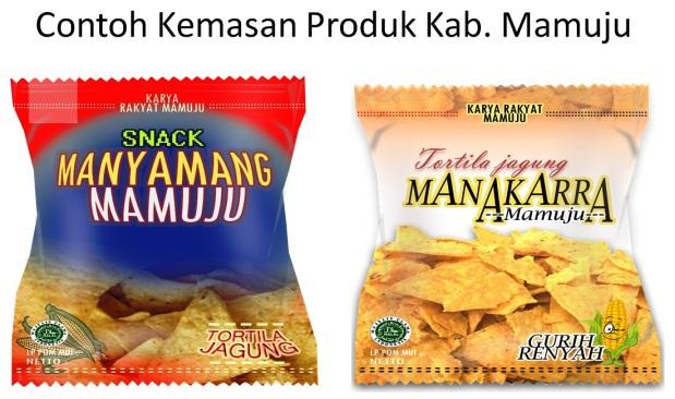Contoh kemasan produk pangan yang akan dikerjakan oleh ekonomi kreatif Mamuju