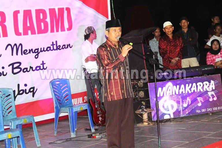 ABM saat memberi sambutan di acara Halal bi halal