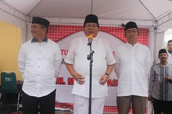 Kiri-Kanan: Andi Ibrahim Masdar, Anwar Adnan Saleh dan Ali Baal Masdar saat acara bukber di Polman