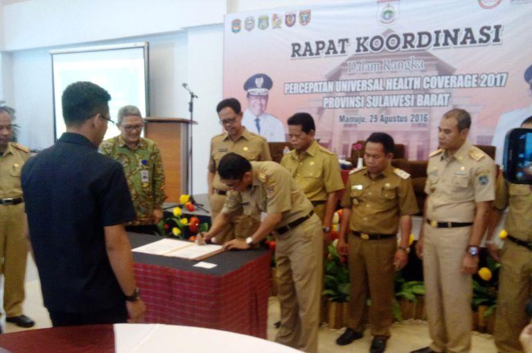 Pemprov Sulbar bersama 6 Kabupaten MoU untuk Maksimalisasi Program JKN-BPJS