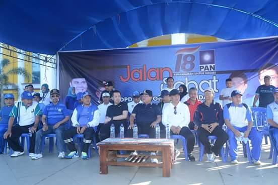 Ketua DPW PAN Sulbar bersama Gubernur Sulbar saat kegiatan PAN di Polman