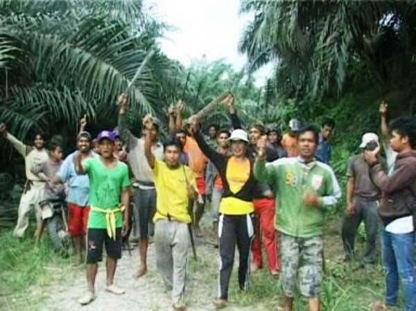 Foto warga yang bersengketa dengan perusahaan sawit (ist)
