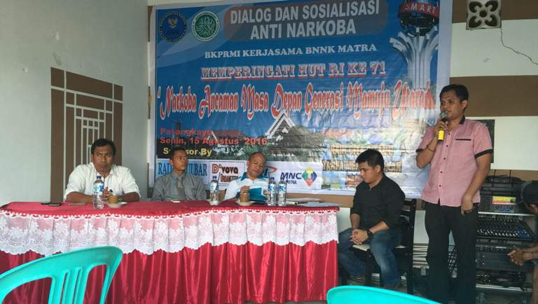 Diskusi Anti Narkoba yang digelar BKPRMI Bersama BNK Matra
