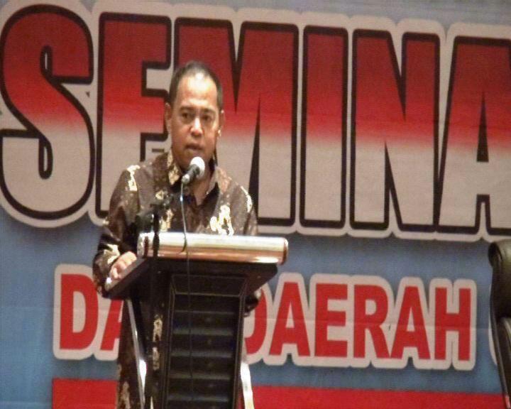 Lukman Said saat membuka acara seminar nasional Adkasi di Jakarta