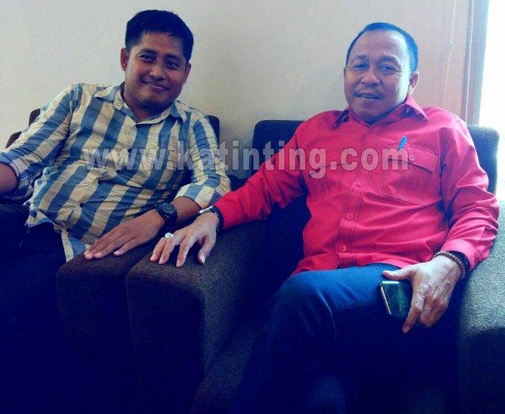 Anhar bakal calon ketua KNPI Matra bersama Agus Ambo Djiwa Bupati Matra