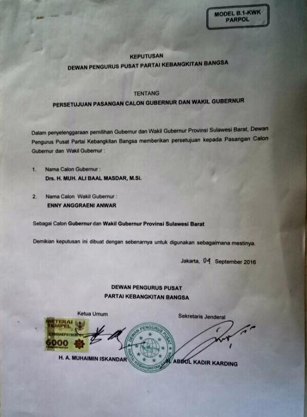 Surat Dukungan PK untuk ABM - Enny