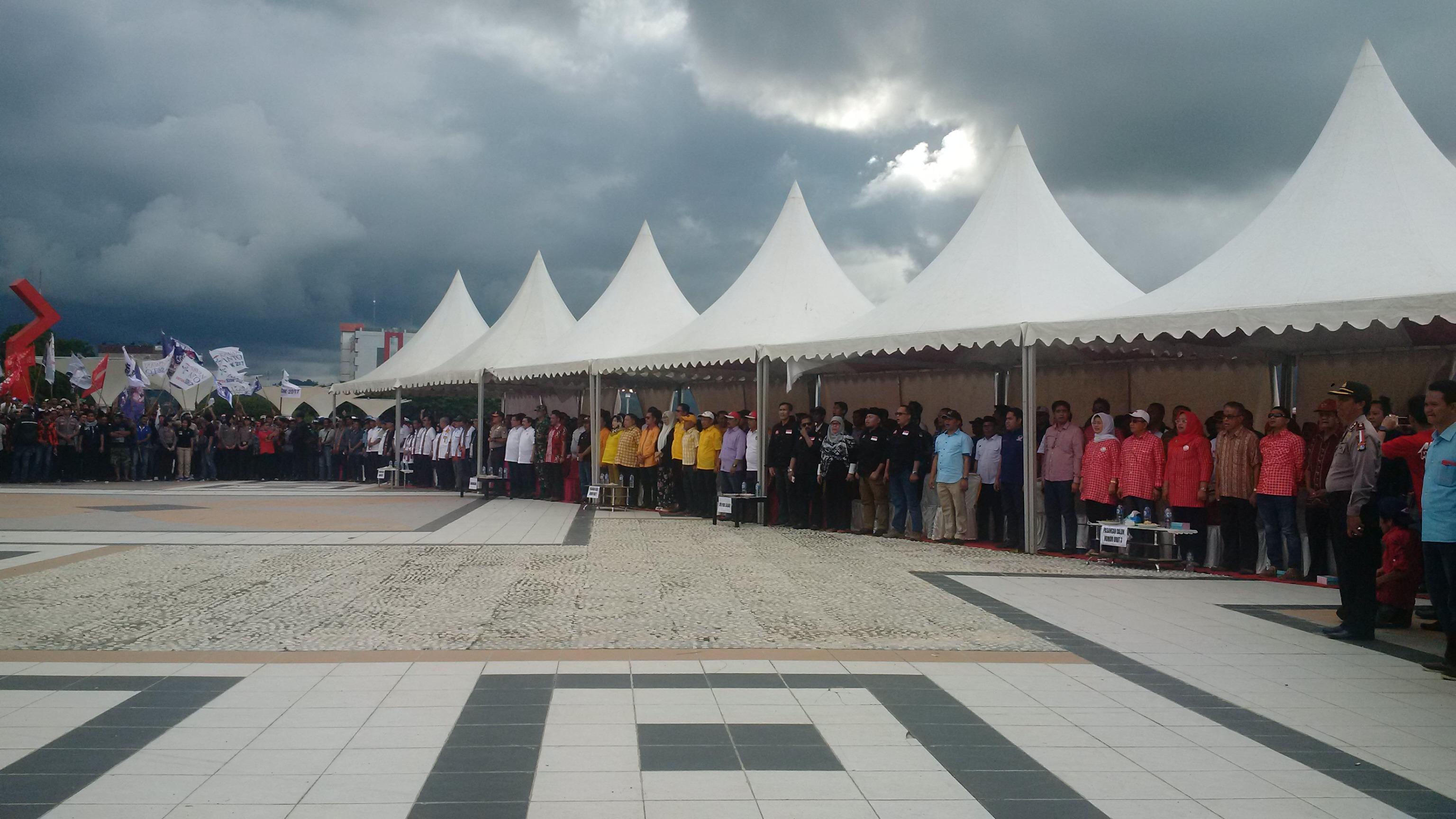 Paslon, komisoner dan undangan Deklarasi Kampanye Damai