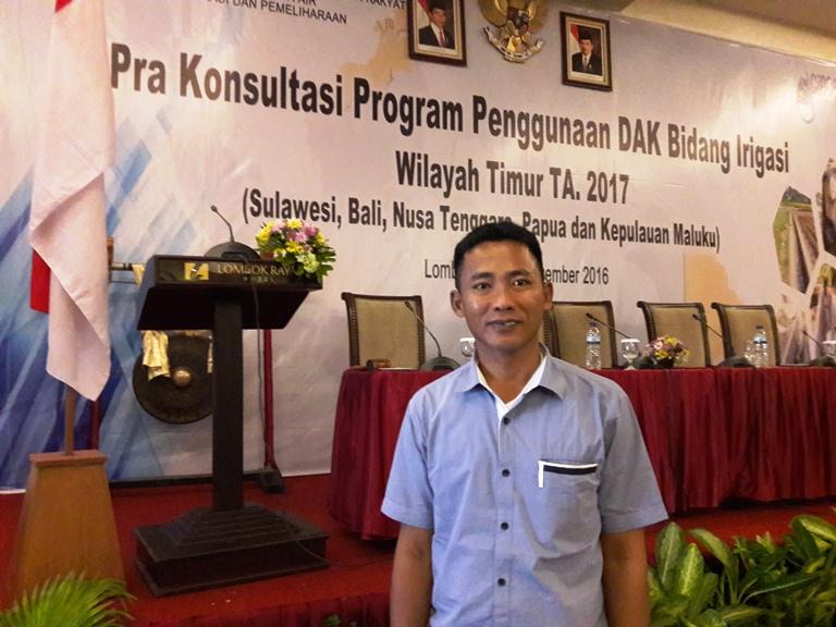 Kepala Bidang Pengairan Dinas PU Matra, Abdul Malik